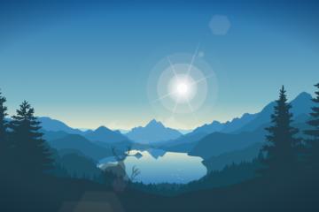 un magnifique lever de soleil sur la nature sauvage en animation web css