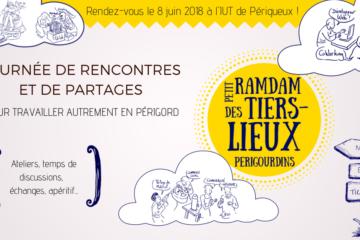 une affiches pour la première édition de l'évènement petit ramdam des tiers-lieux périgourdins
